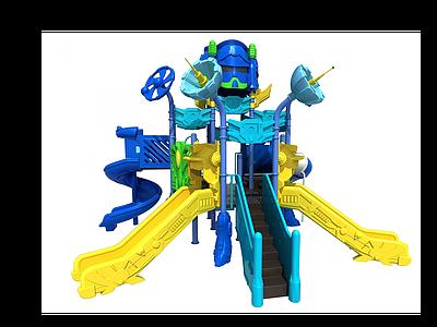 3d機器人滑梯模型