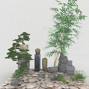 園林裝飾品模型
