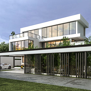 現代別墅模型