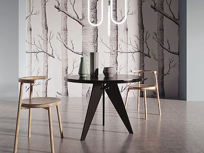 現代木質休閑椅3d模型
