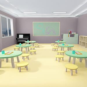 幼兒園小班教室模型