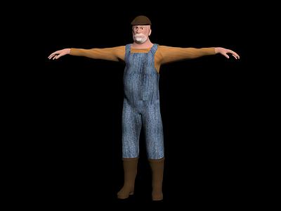 3d農夫模型