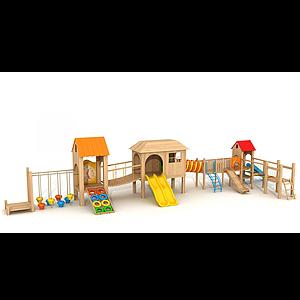 木質拓展滑梯模型