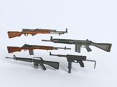 槍械模型3d模型