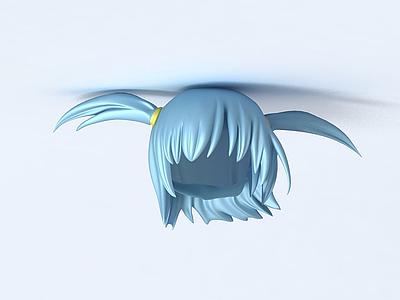 CG女生人物頭發模型3d模型