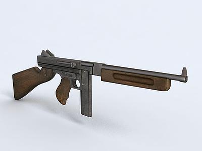 沖鋒槍模型3d模型