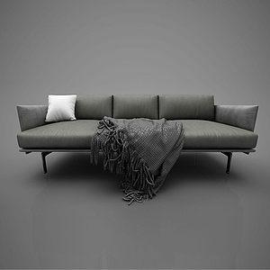 休閑沙發模型