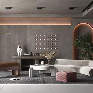 現代客廳沙發模型