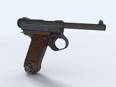 手槍模型3d模型