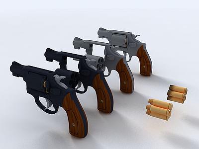 C4D手槍3d模型