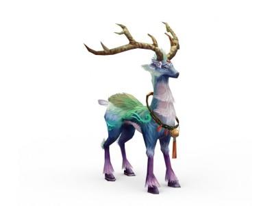 3d游戲坐騎麋鹿模型