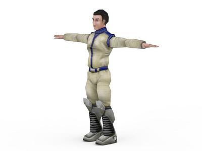 3d舊風格游戲角色免費模型