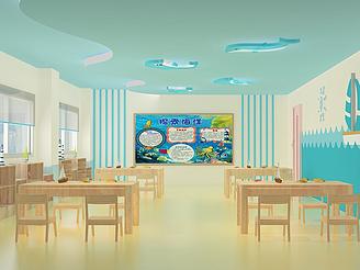 教室幼兒園教室模型