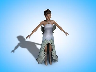 3d女性人物模型