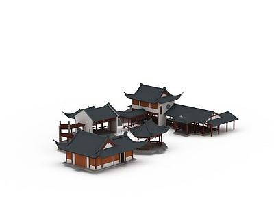 3d園林小組模型
