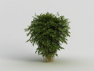 3d戶外園林灌木叢模型