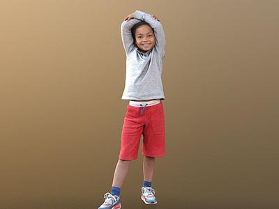 3d兒童人物模型
