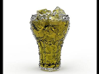 3d可樂飲品模型