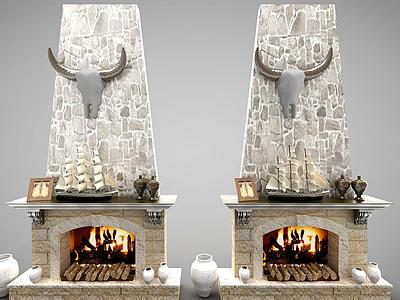 歐式風格壁爐模型3d模型