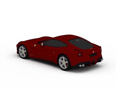 3d紅色<font class='myIsRed'>法拉利</font>跑車模型