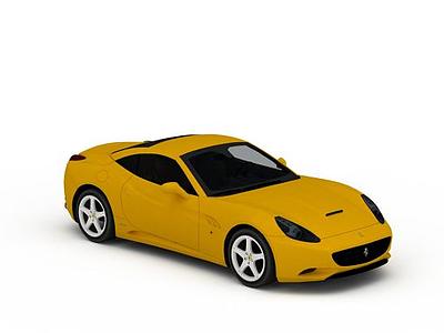 3d黃色<font class='myIsRed'>法拉利</font>跑車模型