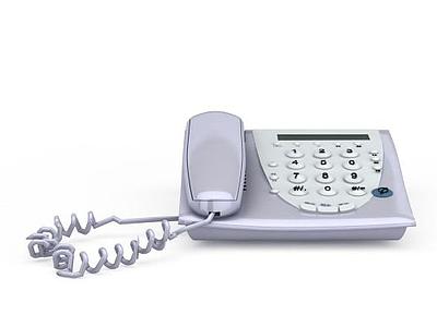 辦公座機電話模型3d模型