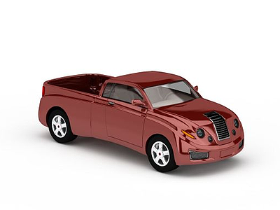 3d<font class='myIsRed'>紅色</font>卡車模型
