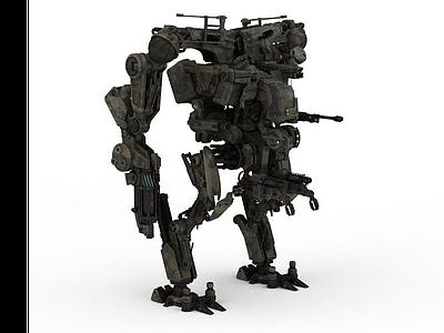 3d軍事機器人模型