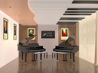 音樂教室鋼琴培訓機構模型