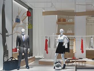 服裝商店店面裝飾模型