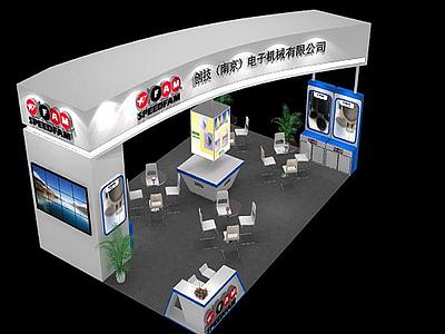 電子展覽館模型3d模型