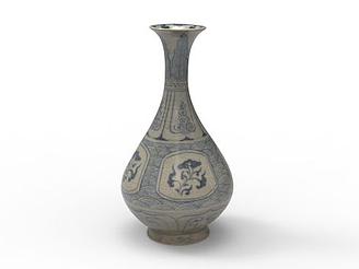 瓷器花瓶模型