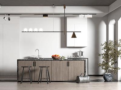 廚房吧臺吧椅模型3d模型