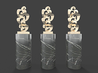 現代裝飾品擺設模型