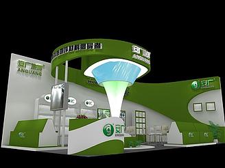安廣地坪展廳模型