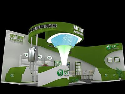 安廣地坪展廳模型3d模型