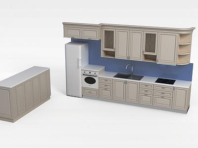 廚房家具模型3d模型