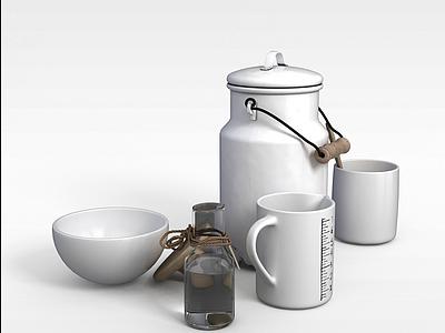 廚房儲藏用品模型3d模型