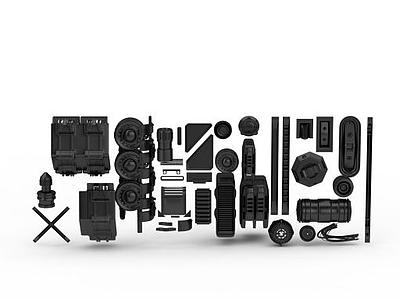 3d工業零件免費模型