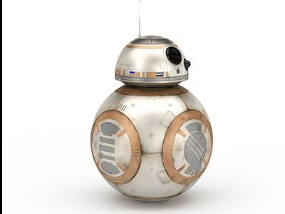 3d星球大戰BB8機器人模型