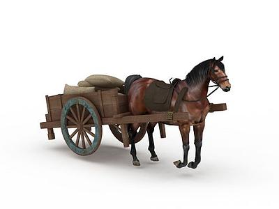 3d游戲馬車模型