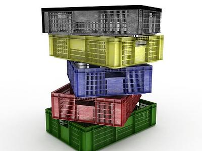 3d塑料箱子模型