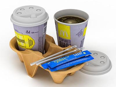 3d咖啡飲品模型