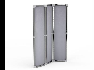 3d活動玻璃屏風免費模型