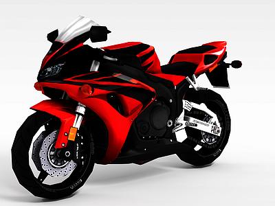 3d<font class='myIsRed'>紅色</font>摩托車模型