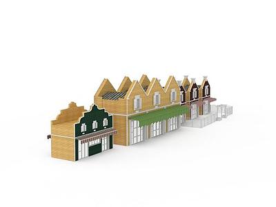 3d荷蘭小鎮模型