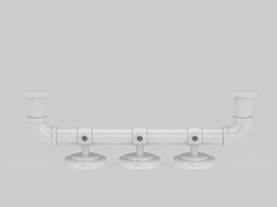 3d塑料管子免費模型