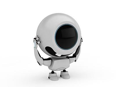3d可愛機器人模型