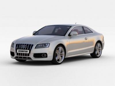 3d白色奧迪<font class='myIsRed'>汽車</font>模型