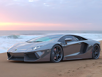 3d現代超級豪華賽車跑車模型